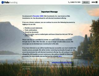 folioinvesting.com screenshot
