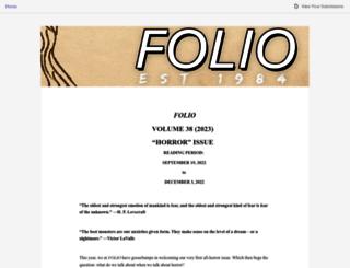 foliolitjournal.submittable.com screenshot