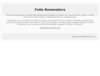 foliorenovators.com screenshot