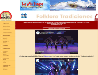 folkloretradiciones.com.ar screenshot