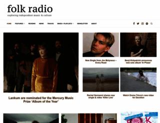 folkradio.co.uk screenshot
