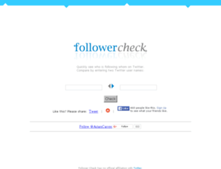 followercheck.com screenshot