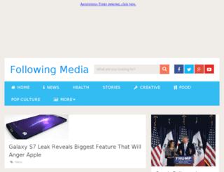following.media screenshot