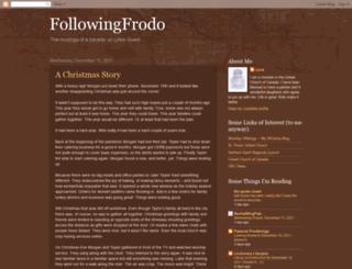followingfrodo.blogspot.ca screenshot