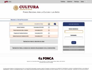 foncaenlinea.cultura.gob.mx screenshot