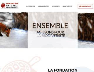fondation-natureetdecouvertes.com screenshot