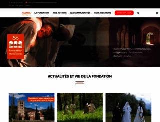 fondationdesmonasteres.org screenshot