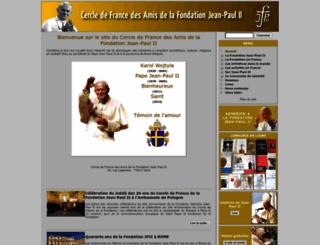 fondationjeanpaul2.fr screenshot