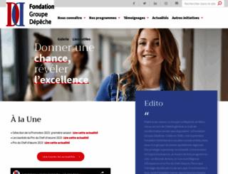 fondationladepeche.com screenshot