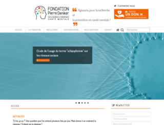 fondationpierredeniker.org screenshot