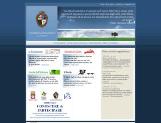 fondazionemoschettini.it screenshot