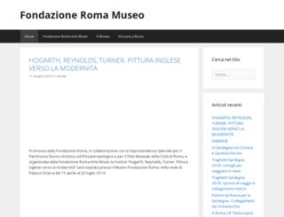 fondazioneromamuseo.it screenshot