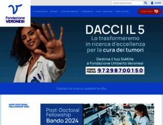 fondazioneveronesi.it screenshot
