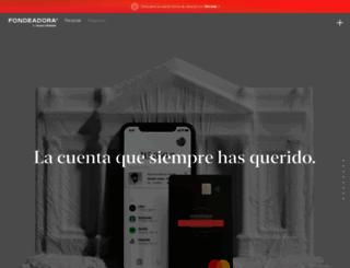 fondeadora.mx screenshot