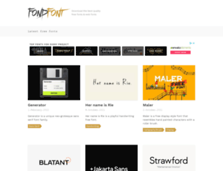 fondfont.com screenshot