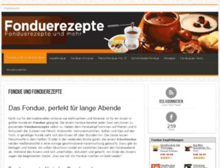 fonduerezepte.com screenshot