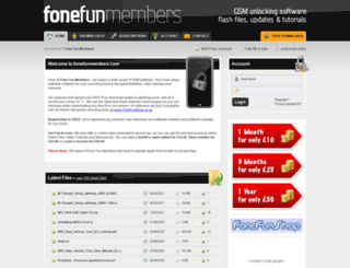 fonefunmembers.co.uk screenshot