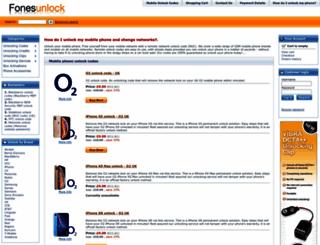 fonesunlock.co.uk screenshot