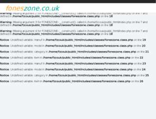 foneszone.co.uk screenshot