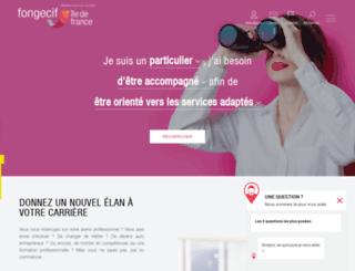 fongecif-idf.fr screenshot