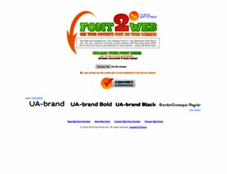 font2web.com screenshot