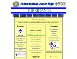 fontainebleaujunior.stpsb.org screenshot
