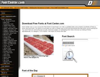 fontcenter.com screenshot