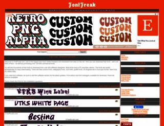 fontfreak.com screenshot