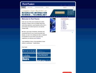 fontfusion.com screenshot