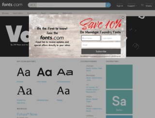 fontmarketplace.com screenshot