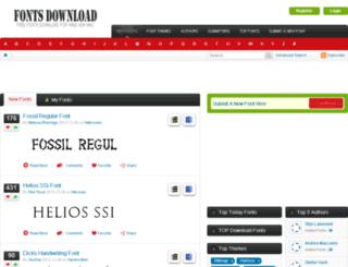 fonts-download.net screenshot