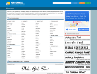 fonts4free.net screenshot