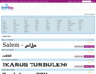fontsbay.com screenshot