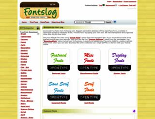 fontslog.com screenshot