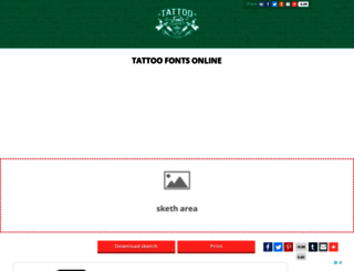 fontstattoo.com screenshot