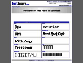 fontsupply.com screenshot