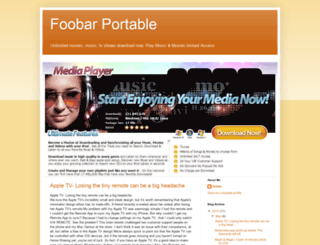 foobar-portable.blogspot.com screenshot