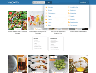 food.onehowto.com screenshot