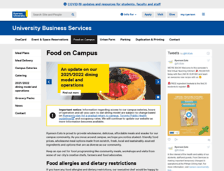 food.ryerson.ca screenshot