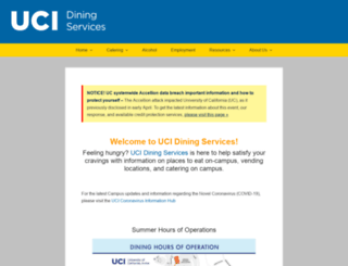 food.uci.edu screenshot