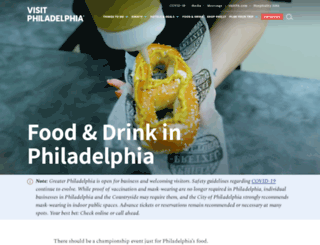 food.visitphilly.com screenshot