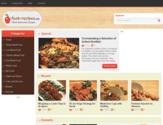 food2recipe.info screenshot