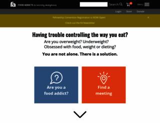 foodaddicts.org screenshot