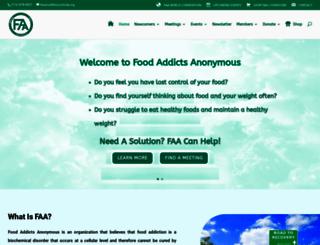 foodaddictsanonymous.org screenshot