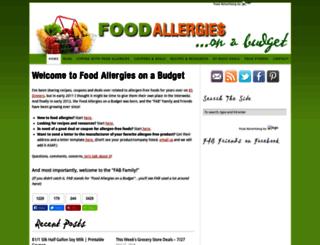 foodallergiesonabudget.com screenshot