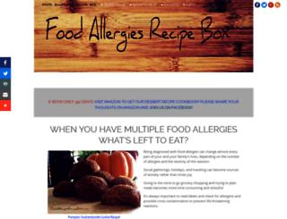 foodallergiesrecipebox.com screenshot