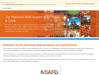 foodanddrink.nsacademy.co.uk screenshot