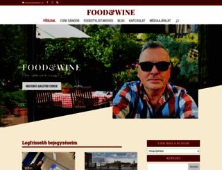foodandwine.hu screenshot