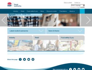 foodauthority.nsw.gov.au screenshot