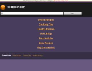 foodbacon.com screenshot